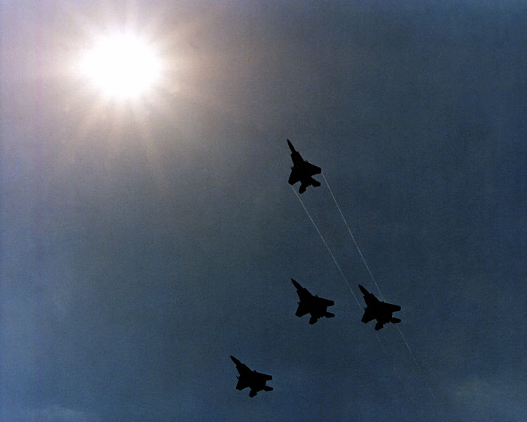 Four_F-15_Eagle_aircraft_execute_a_Missing_Man_formation_as_they_fly_over_the_Pentagon_during_Memorial_Day_services_DF-SC-82-03512.jpg